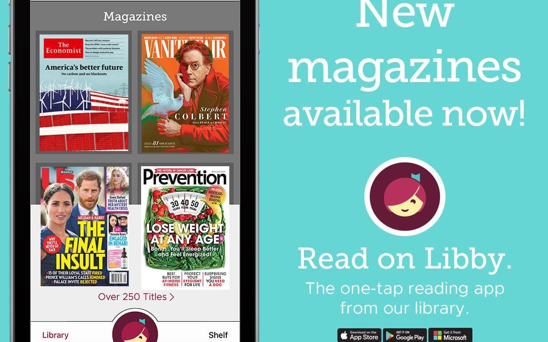 New! Enjoy Magazines with Libby app